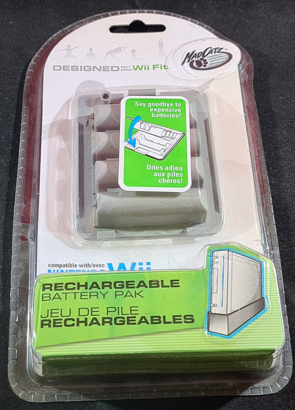 Brand New and Sealed Mad Catz Battery Pak Nintendo Wii Fit Accessory