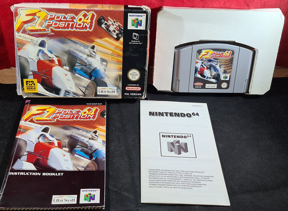 F1 Pole Position Nintendo 64 (N64) Game