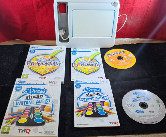 Udraw Tablet with Instant Artist and Pictionary Nintendo Wii Game & Accessory Bundle