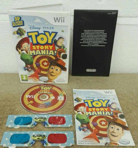 Disney Pixar Toy Story Mania with 3D Glasses Nintendo Wii Game