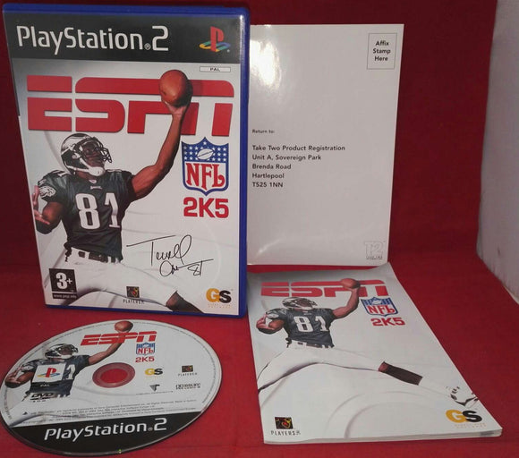 ESPN NFL 2K5 Sony Playstation 2 (PS2) RARE Game