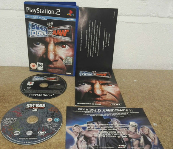 WWE Smackdown VS Raw with RARE Before they were Superstars 2 DVD Sony Playstation 2 (PS2) Game