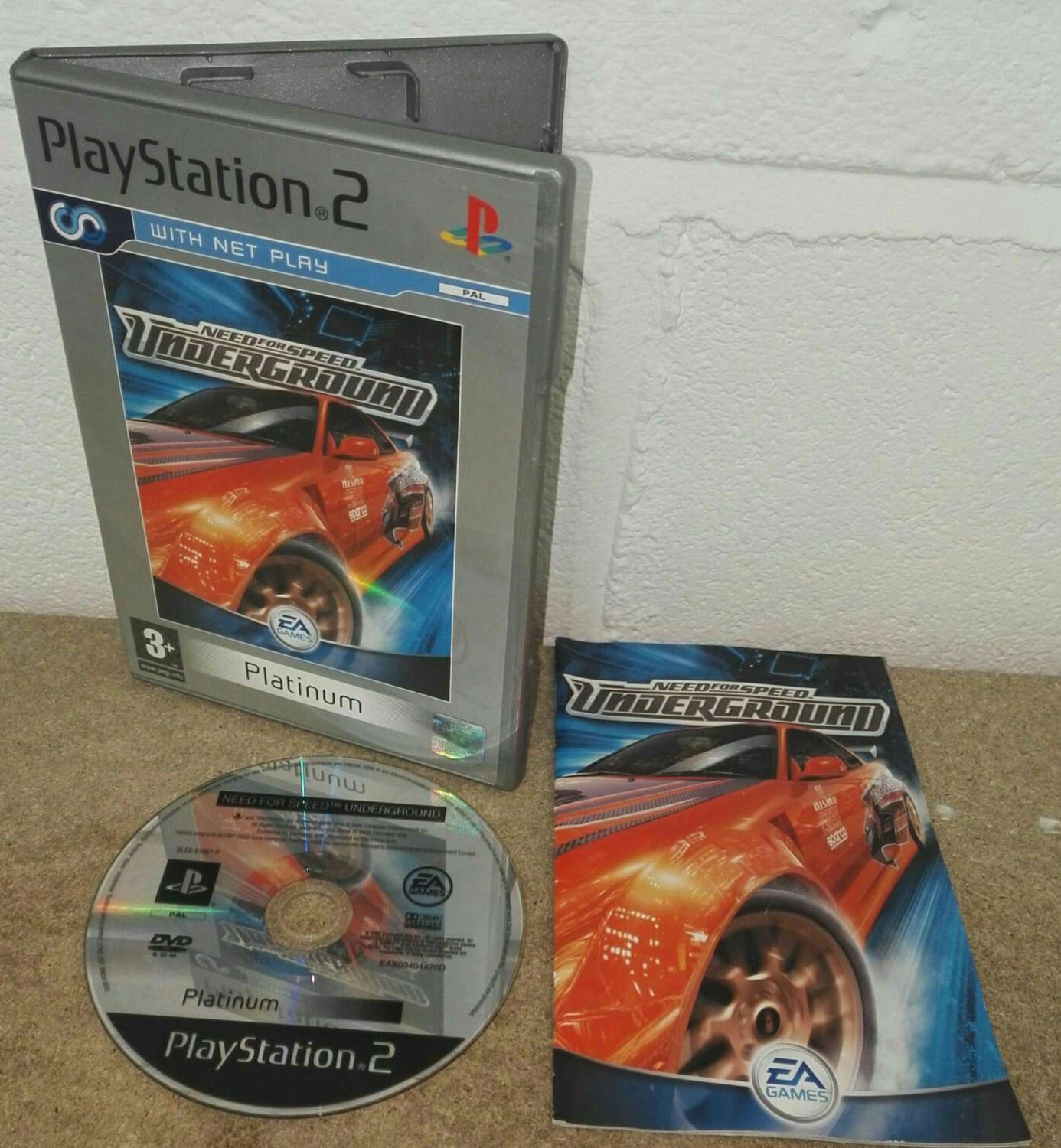 Need For Speed Underground Platinum Sony Playstation 2 Ps2 Game