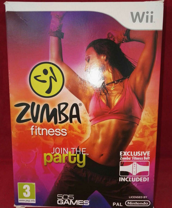 Boxed Zumba Fitness with Belt Nintendo Wii Game