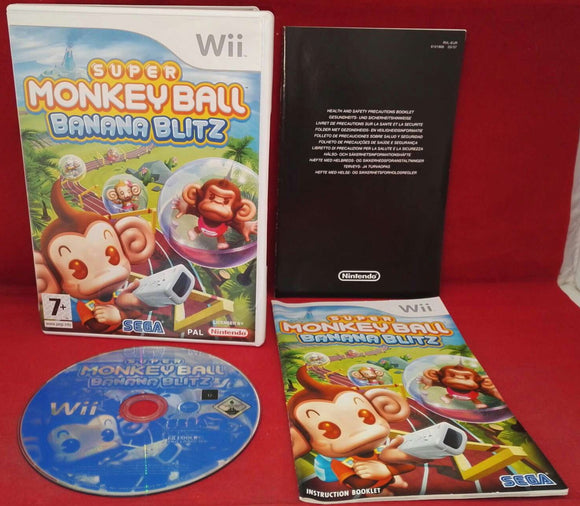 Super Monkey Ball Banana Blitz Nintendo Wii Game
