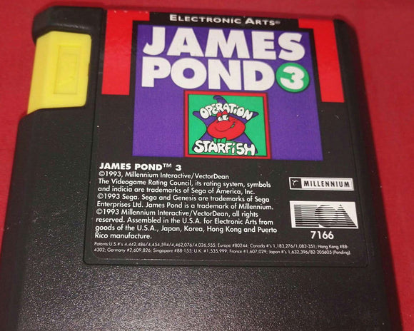 James Pond 3 Sega Mega Drive Cartridge Only