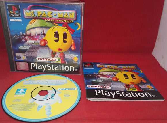 Ms Pac-Man Maze Madness Sony Playstation 1 (PS1) Game