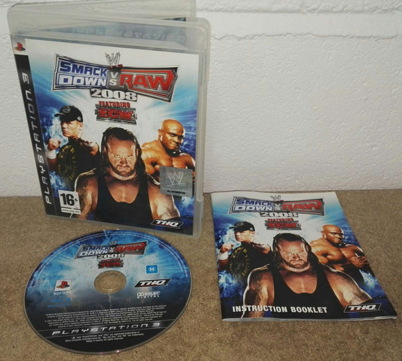 WWE Smackdown VS Raw 2008 Sony Playstation 3 (PS3) Game
