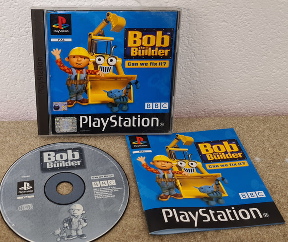 Bob the Builder Can we Fix it? Sony Playstation 1 (PS1) Game