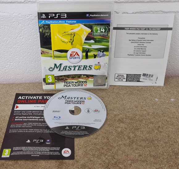 Masters Tiger Woods PGA Tour 12 Sony Playstation 3 (PS3) Game