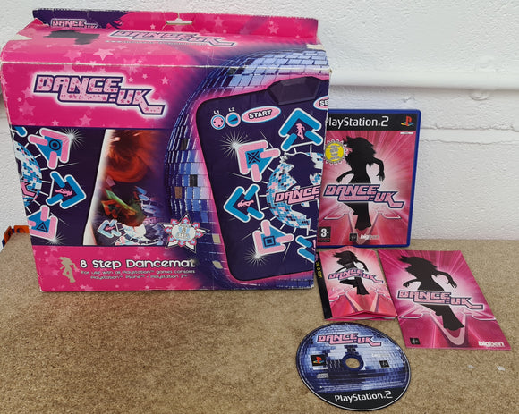 Boxed DanceUK 8 Step Dance Mat with Game Sony Playstation 2 (PS2) Accessory
