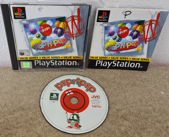 Pop n Pop with Manual Sony Playstation 1 (PS1) Game
