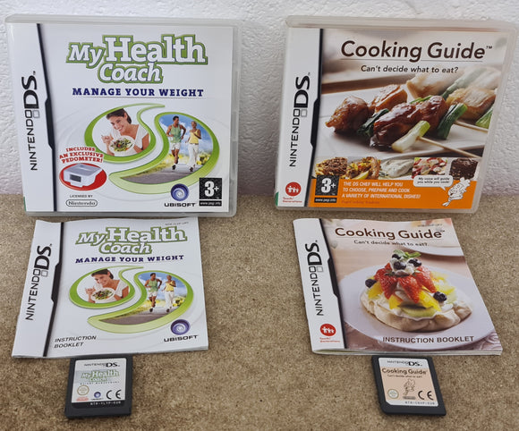 My Health Coach & Cooking Guide Nintendo DS Game Bundle