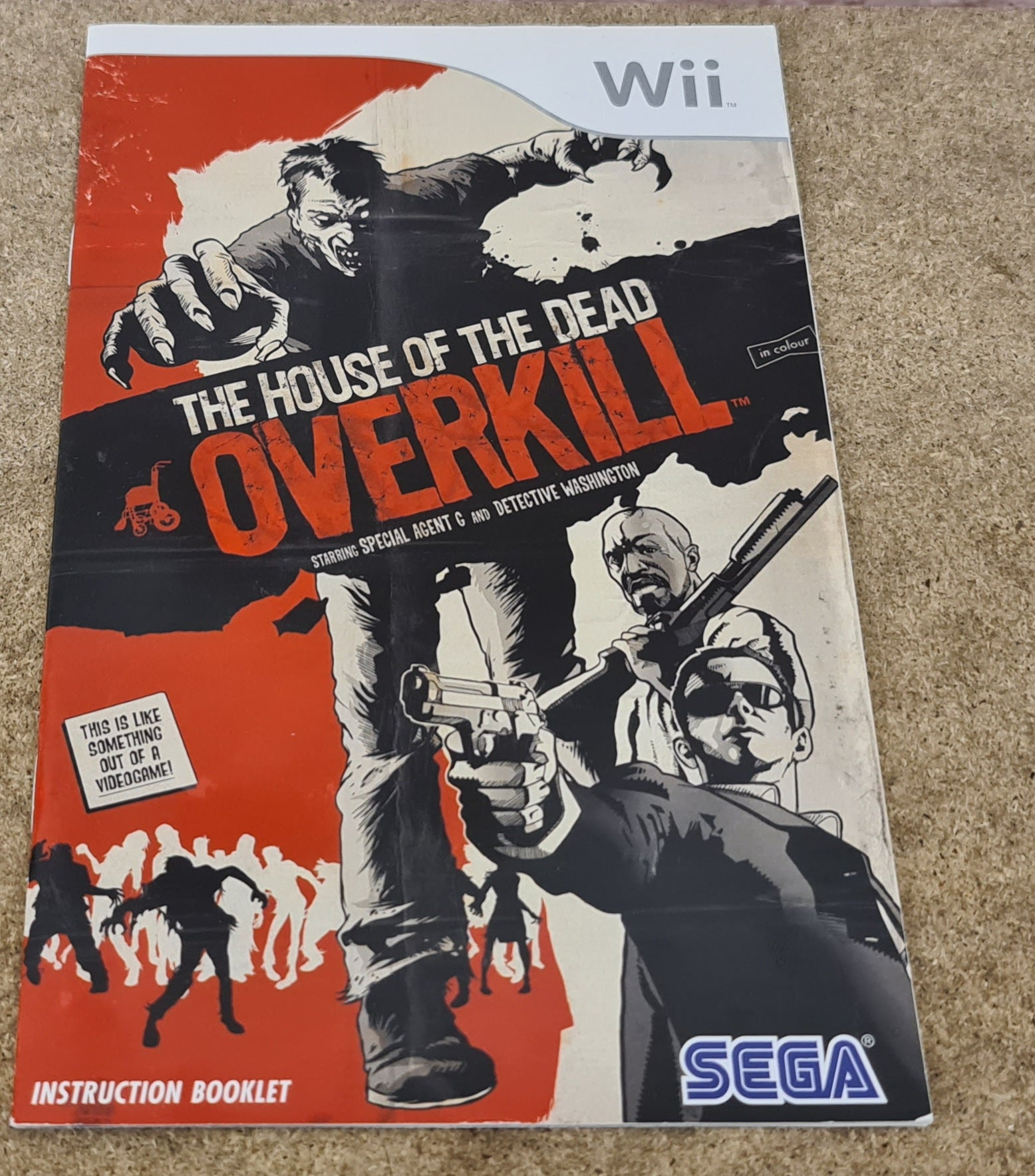 House Of The Dead Overkill Nintendo Wii Spare Manual Only Retro