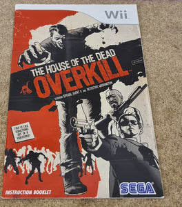 House of the Dead Overkill Nintendo Wii Spare Manual Only