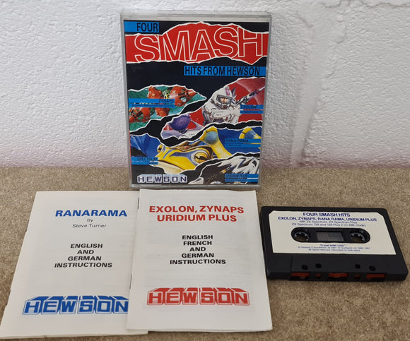 Four Smash Hits from Hewson ZX Spectrum RARE Game