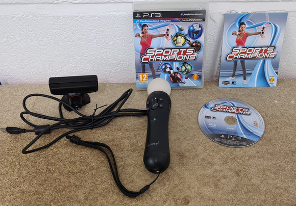 Playstation Move Motion Controller, Camera & Sports Champions Sony Playstation 3 (PS3) Accessory & Game