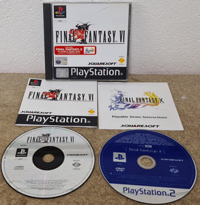 Final Fantasy VI with FF X Demo Sony Playstation 1 (PS1) Game