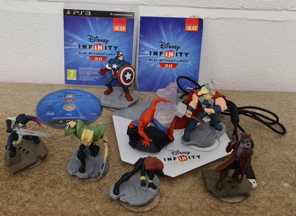 Disney Infinity 2.0 with Portal & 7 Marvel Characters Sony Playstation 3 (PS3) Game & Accessory