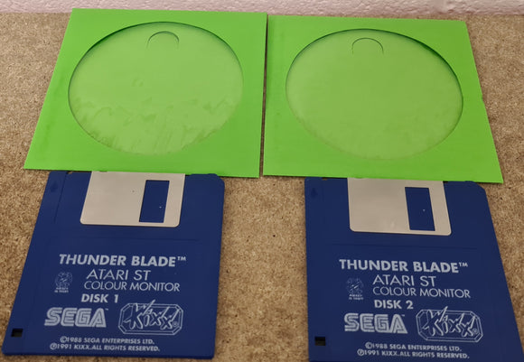 Thunder Blade Atari ST Game Discs Only