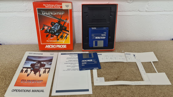 Gunship in RARE Box Atari ST Game