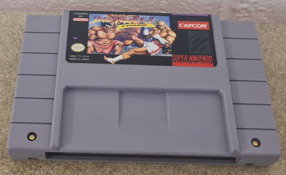 Street Fighter II Turbo Super Nintendo Entertainment System (SNES) NTSC U/C Game Cartridge Only
