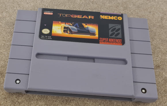 Top Gear Super Nintendo Entertainment System (SNES) NTSC U/C Game Cartridge Only
