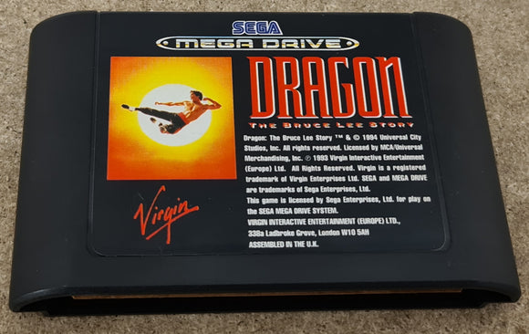 Dragon the Bruce Lee Story Sega Mega Drive Game Cartridge Only