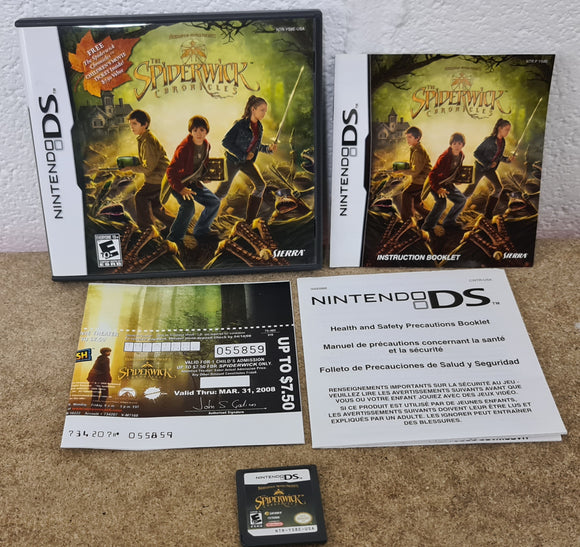 Spiderwick Chronicles with RARE Free Cinema Ticket USA Version Nintendo DS Game