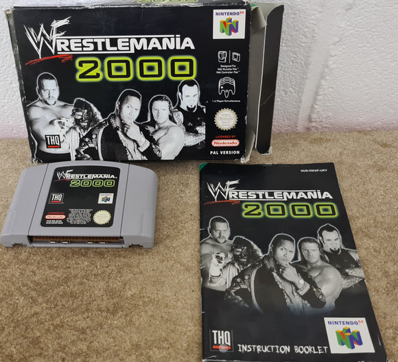WWF Wrestlemania 2000 Nintendo 64 (N64) Game