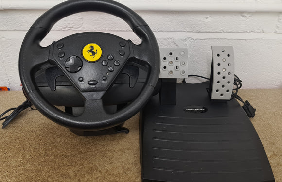 Ferrari 360 Modena Thrustmaster Racing Wheel & Peddles Sony Playstation 2 (PS2) Accessory