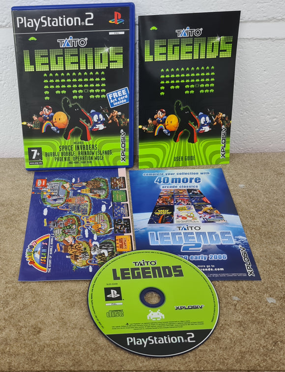 Taito Legends with Art Card Sony Playstation 2 (PS2) Game