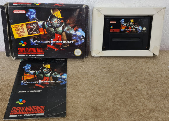 Killer Instinct Super Nintendo Entertainment System (SNES) Game.