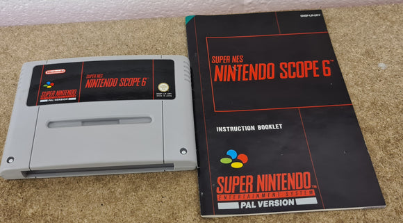 Nintendo Scope 6 Super Nintendo Entertainment System (SNES) Game Cartridge & Manual Only