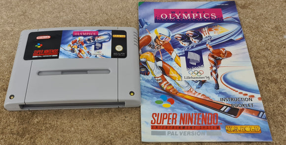 Winter Olympics Super Nintendo Entertainment System (SNES) Game Cartridge & Manual Only