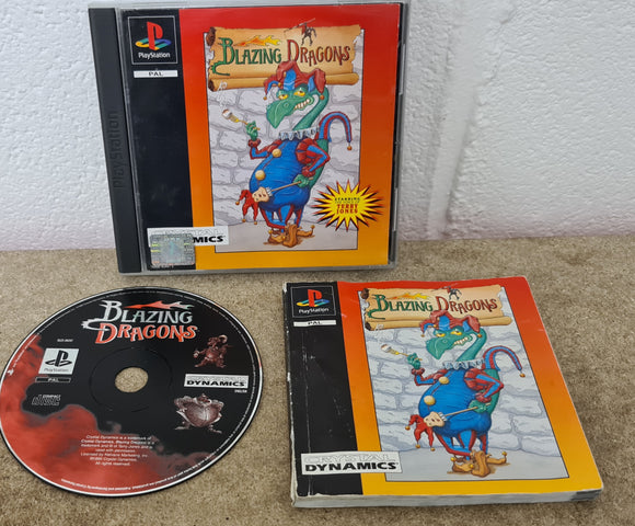 Blazing Dragons Sony Playstation 1 (PS1) RARE Game