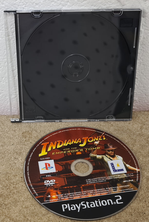 Indiana Jones Emperor's Tomb Sony Playstation 2 (PS2) Game Disc Only
