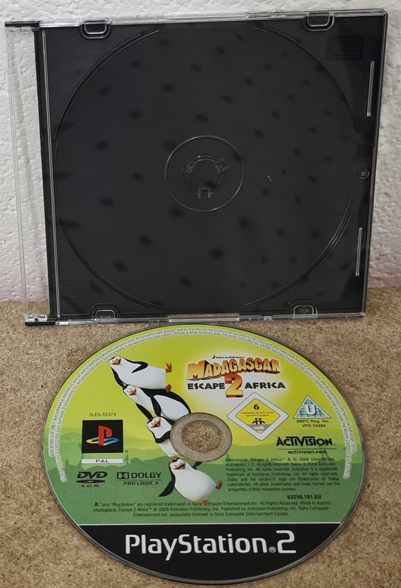 Madagascar Escape 2 Africa Sony Playstation 2 (PS2) Game Disc Only