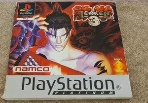 Tekken 3 Sony Playstation 1 (PS1) Spare Platinum Manual Only