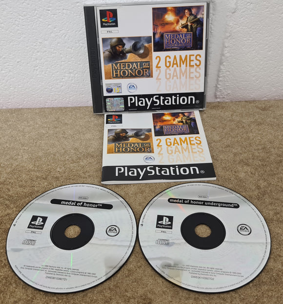 Medal of Honor & MOH Underground Twin Pack Sony Playstation 1 (PS1) Game