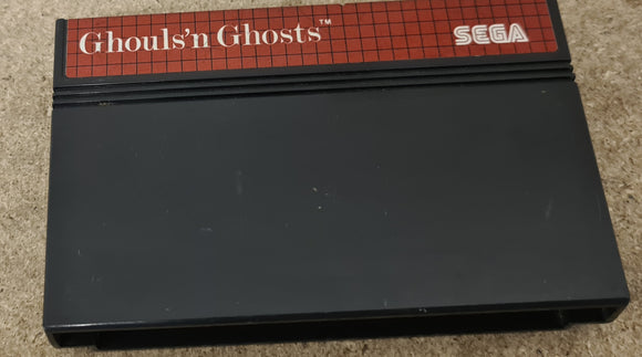 Ghouls'n Ghosts Sega Master System Game Cartridge Only