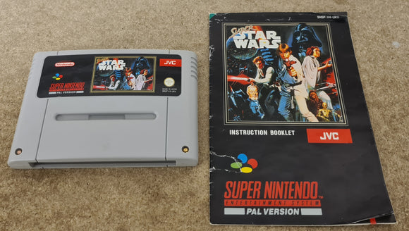 Super Star Wars Super Nintendo Entertainment System (SNES) Game Cartridge & Manual Only