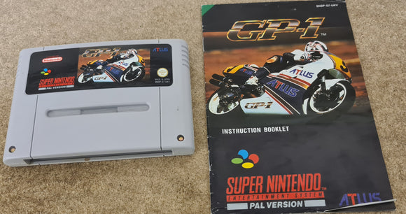 GP-1 Super Nintendo Entertainment System (SNES) Game Cartridge & Manual Only