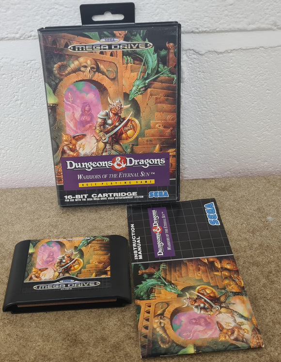 Dungeons & Dragons Warriors of the Eternal Sun Sega Mega Drive Game