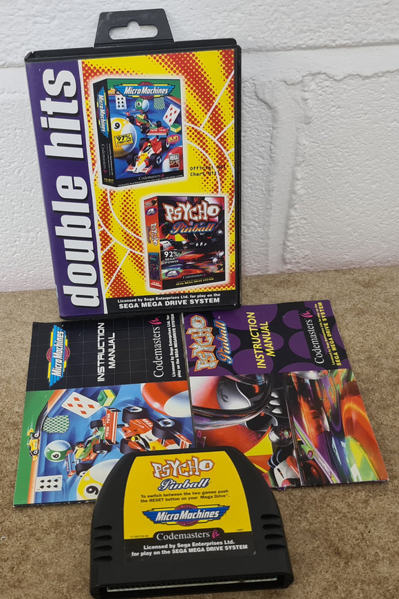 Double Hits: Micro Machines & Psycho Pinball Sega Mega Drive game