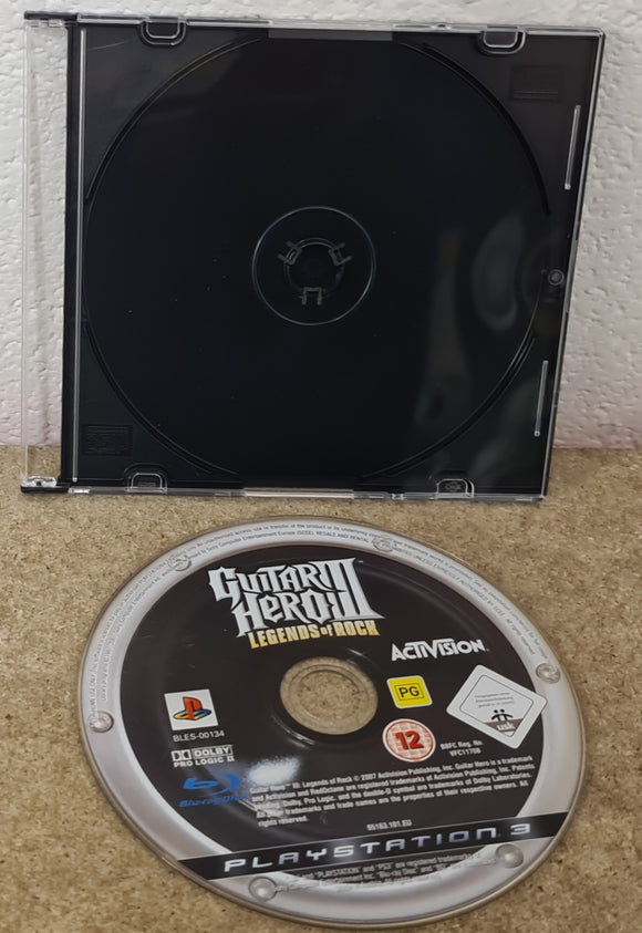 Guitar Hero III Legends of Rock Sony Playstation 3 (PS3) Game Disc Only