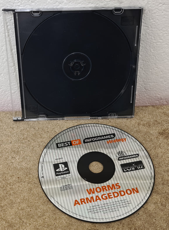 Worms Armageddon Sony Playstation 1 (PS1) Game Disc Only