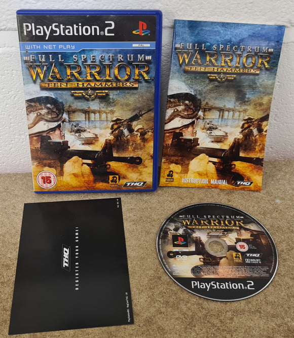 Full Spectrum Warrior Ten Hammers Sony Playstation 2 (PS2) Game