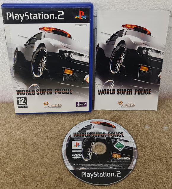 World Super Police Sony Playstation 2 (PS2) Game