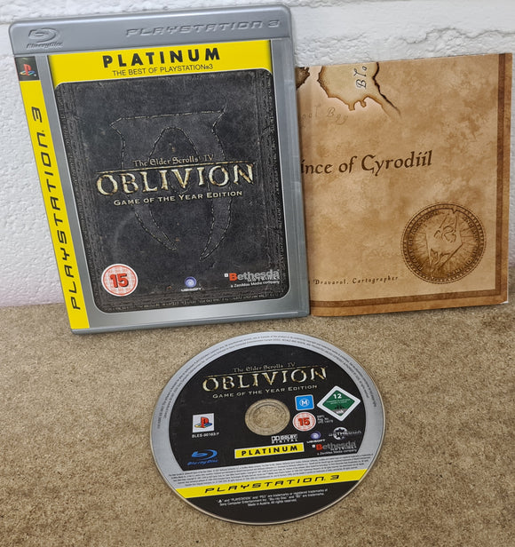 The Elder Scrolls IV: Oblivion Game of the year edition With Map PS3 (Sony Playstation 3) Game
